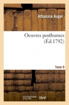 Oeuvres posthumes Tome 9
