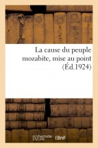 La cause du peuple mozabite, mise au point