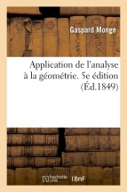 Application de l'analyse à la géométrie. 5e édition