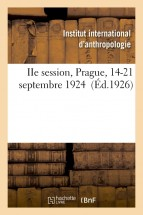 IIe session, Prague, 14-21 septembre 1924