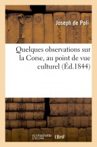 Quelques observations sur la Corse, au point de vue culturel
