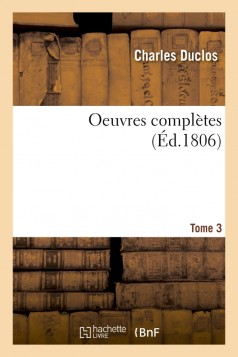 Oeuvres complètes Tome 3